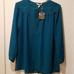 Matilda Jane New with tags, sheer medium blouse